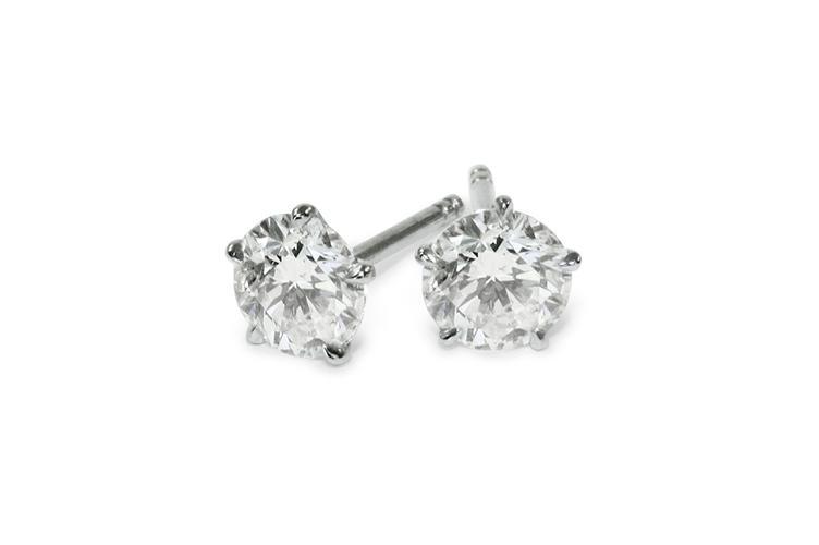 Platinum Diamond Stud Earrings 3611 Custom Made Collection Sensa